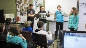 Kids attending the History Detectives Program