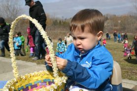 Boy with Basket at Easter Eggstravaganza