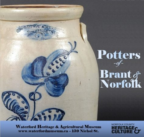 Potters of Brant & Norfolk Pottery Exhibit Poster