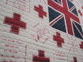 James' Red Cross Quilt