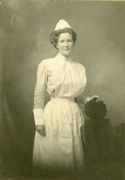 Studio portrait of Alice L. Trusdale