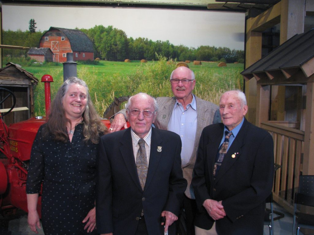 Past Agricultural Hall of Fame members with family and friends