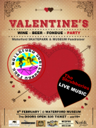 Poster advertising An Evening at the Museum - Valentine's Edition at WHAM on February 8th