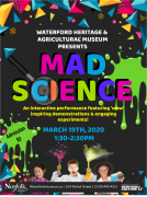 Poster for Mad Science event at WHAM on March 19, 2020